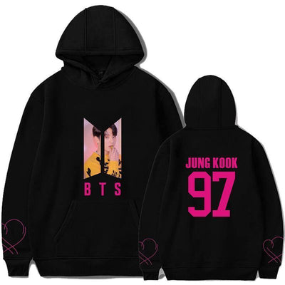 BTS Map Of The Soul PERSONA Aesthetic Bias Hoodie Black / JUNGKOOK / S Gotamochi BTS MERCH BT21 MERCH KAWAII STORE