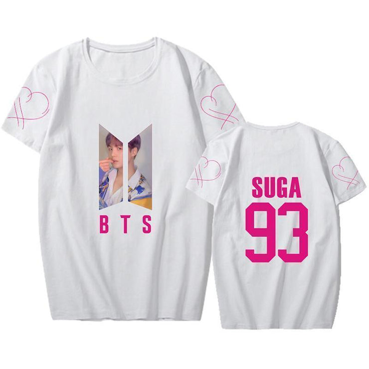 BTS Map Of The Soul PERSONA Aesthetic Bias Tear Drop T-Shirt White / SUGA / S Gotamochi BTS MERCH BT21 MERCH KAWAII STORE