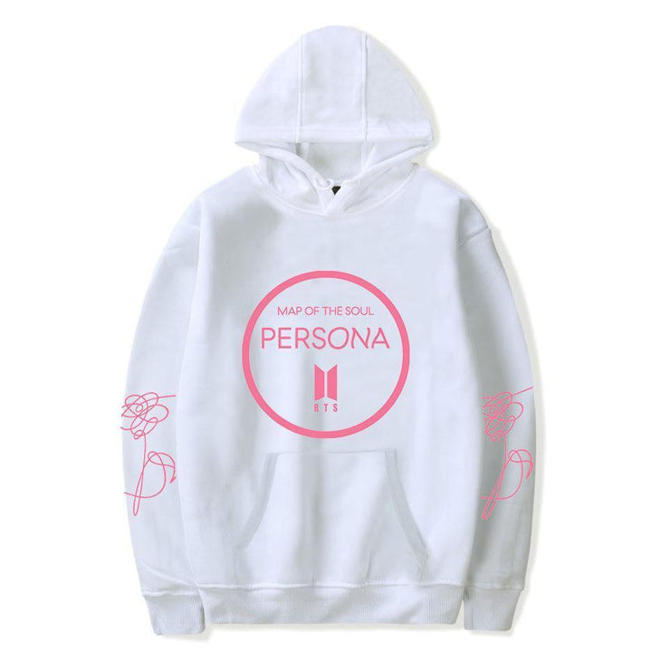 BTS Map Of The Soul Persona Album Hoodie XXS / White Gotamochi BTS MERCH BT21 MERCH KAWAII STORE