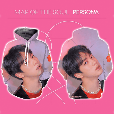 BTS Map Of The Soul Persona Concept Bias Hoodie [Limited Edition] XXS / Jin Hoodie Gotamochi BTS MERCH BT21 MERCH KAWAII STORE