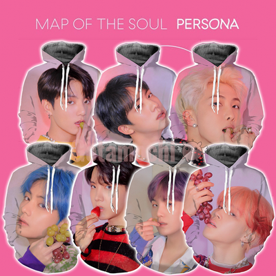 BTS Map Of The Soul Persona Concept Bias Hoodie [Limited Edition] S / All 7 BTS Member Hoodies Gotamochi BTS MERCH BT21 MERCH KAWAII STORE