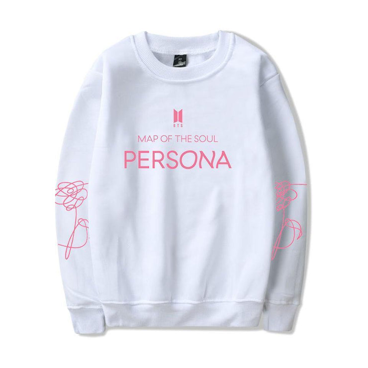 BTS Map Of The Soul PERSONA Sweater White 2 / S Gotamochi BTS MERCH BT21 MERCH KAWAII STORE