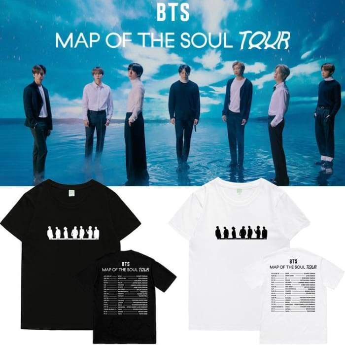 BTS MOTS TOUR Schedule T-shirt Gotamochi BTS MERCH BT21 MERCH KAWAII STORE