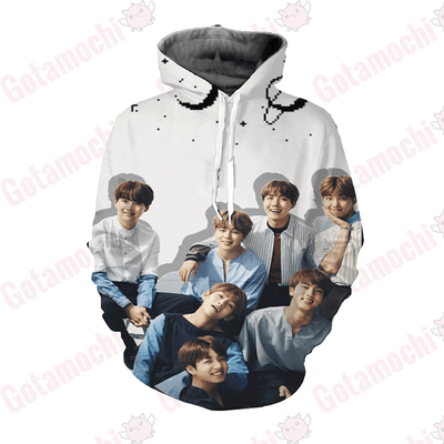 BTS Space Revolutions Premium Hoodie XS Gotamochi BTS MERCH BT21 MERCH KAWAII STORE