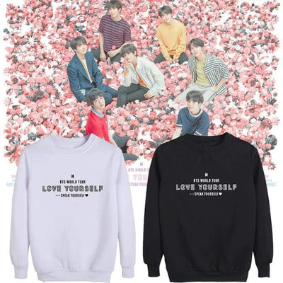 BTS Speak Yourself World Tour Sweatshirt BLACK / S Gotamochi BTS MERCH BT21 MERCH KAWAII STORE