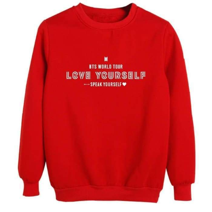 BTS Speak Yourself World Tour Sweatshirt RED / S Gotamochi BTS MERCH BT21 MERCH KAWAII STORE