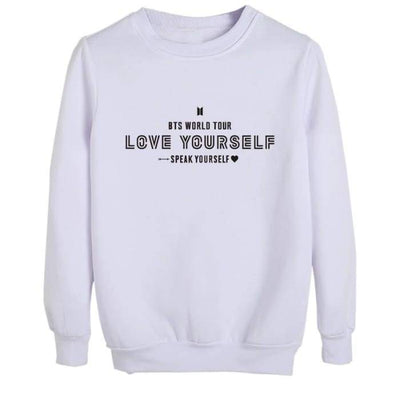 BTS Speak Yourself World Tour Sweatshirt WHITE / S Gotamochi BTS MERCH BT21 MERCH KAWAII STORE