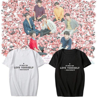 BTS Speak Yourself World Tour T-shirt Black / S Gotamochi BTS MERCH BT21 MERCH KAWAII STORE