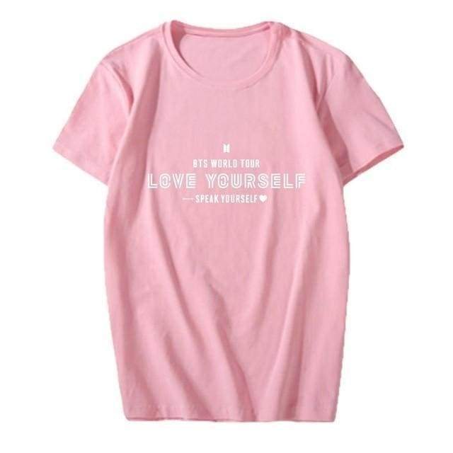 BTS Speak Yourself World Tour T-shirt Pink / S Gotamochi BTS MERCH BT21 MERCH KAWAII STORE