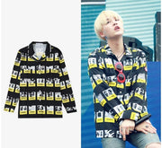 BTS Suga Fire MV Button Up Shirt Gotamochi BTS MERCH BT21 MERCH KAWAII STORE