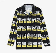 BTS Suga Fire MV Button Up Shirt black / L Gotamochi BTS MERCH BT21 MERCH KAWAII STORE