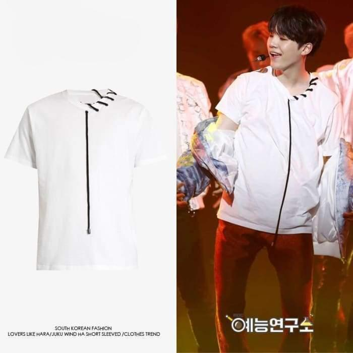 BTS Suga Lace T-shirt Gotamochi BTS MERCH BT21 MERCH KAWAII STORE