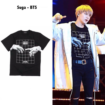 BTS Suga Nasty Squad + Rare Visionair. Tee Gotamochi BTS MERCH BT21 MERCH KAWAII STORE