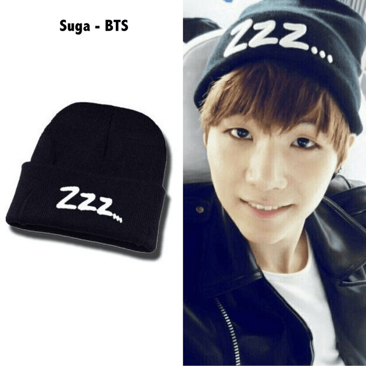 "BTS Suga ""Zzz..."" Beanie Gotamochi BTS MERCH BT21 MERCH KAWAII STORE"