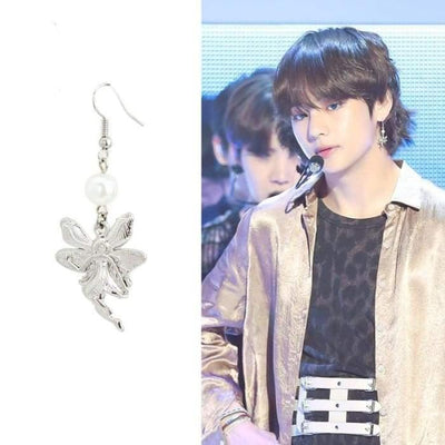 BTS Taehyung FAKE LOVE Fashion Elf Earring Gotamochi BTS MERCH BT21 MERCH KAWAII STORE
