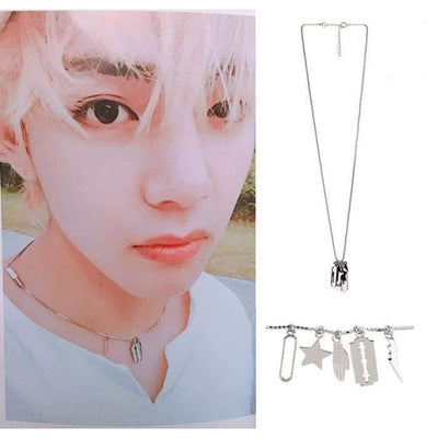 BTS Taehyung Saipan Guide Book Fashion Necklace Gotamochi BTS MERCH BT21 MERCH KAWAII STORE