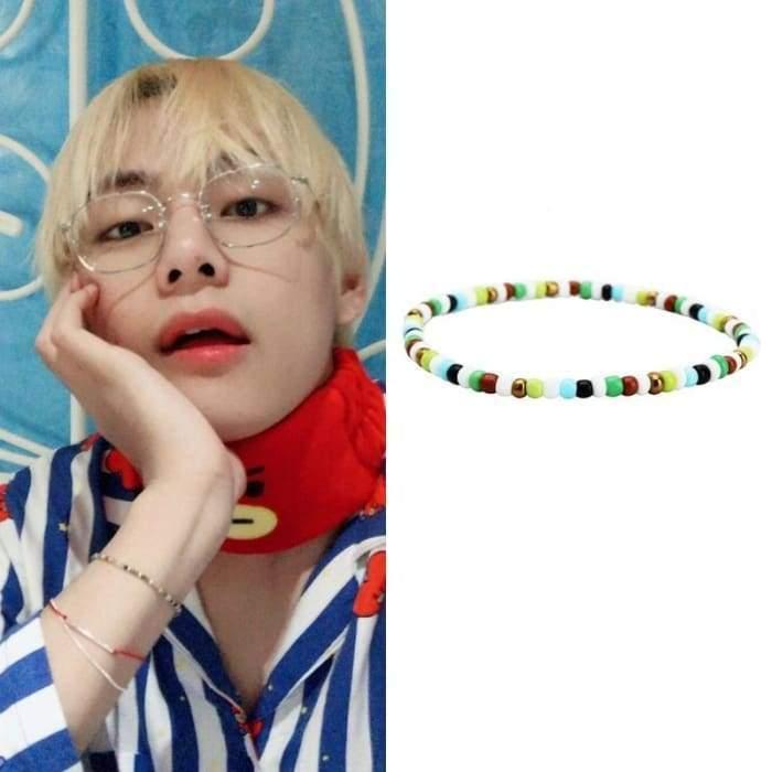 BTS Taehyung Twitter Update Fashion Bracelet Gotamochi BTS MERCH BT21 MERCH KAWAII STORE