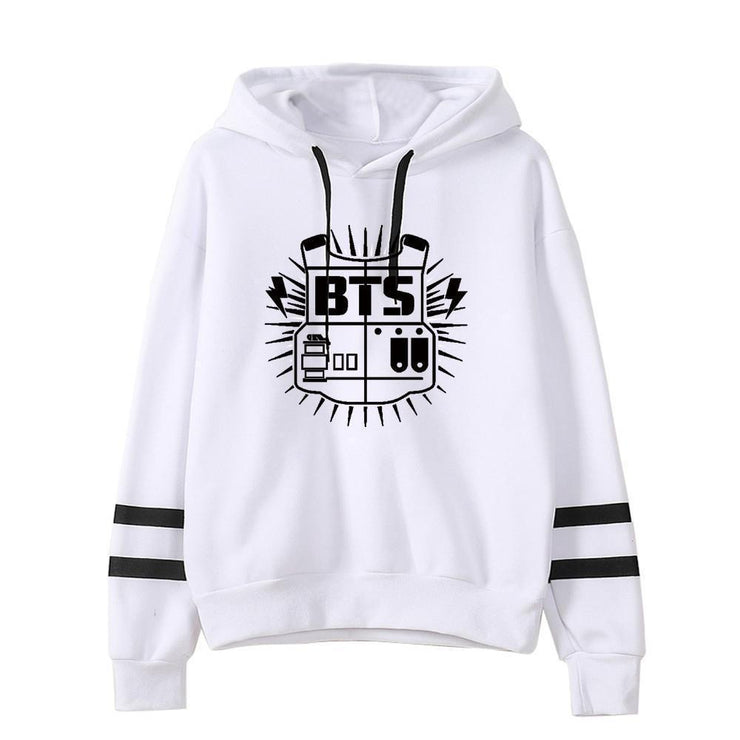 BTS Tour Stripes Hoodie Gotamochi BTS MERCH BT21 MERCH KAWAII STORE