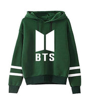 BTS Tour Stripes Hoodie green1 / S Gotamochi BTS MERCH BT21 MERCH KAWAII STORE