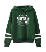 BTS Tour Stripes Hoodie green2 / S Gotamochi BTS MERCH BT21 MERCH KAWAII STORE