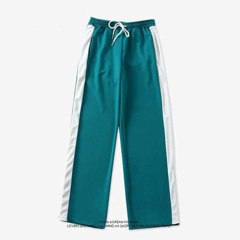 BTS V Striped Joggers Green / S Gotamochi BTS MERCH BT21 MERCH KAWAII STORE
