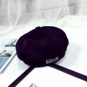 BTS V Taehyung Ellioiti Beret Black Gotamochi BTS MERCH BT21 MERCH KAWAII STORE