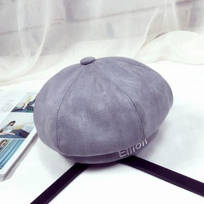 BTS V Taehyung Ellioiti Beret Grey Gotamochi BTS MERCH BT21 MERCH KAWAII STORE