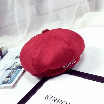 BTS V Taehyung Ellioiti Beret Red Gotamochi BTS MERCH BT21 MERCH KAWAII STORE