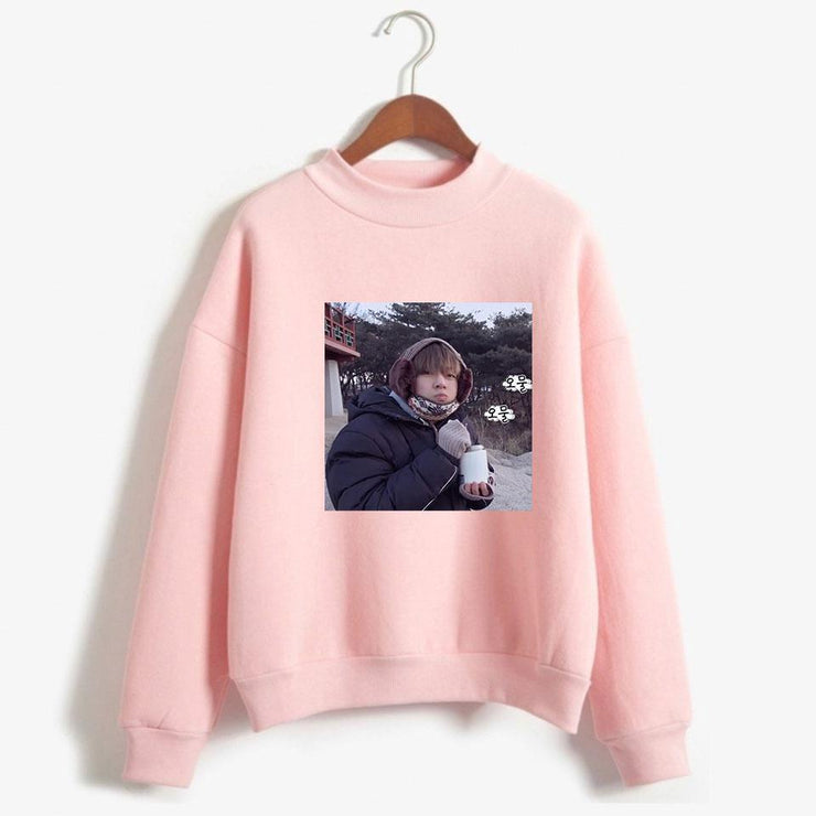 "BTS V Taehyung ""Frozen Tae"" Pullover Gotamochi BTS MERCH BT21 MERCH KAWAII STORE"