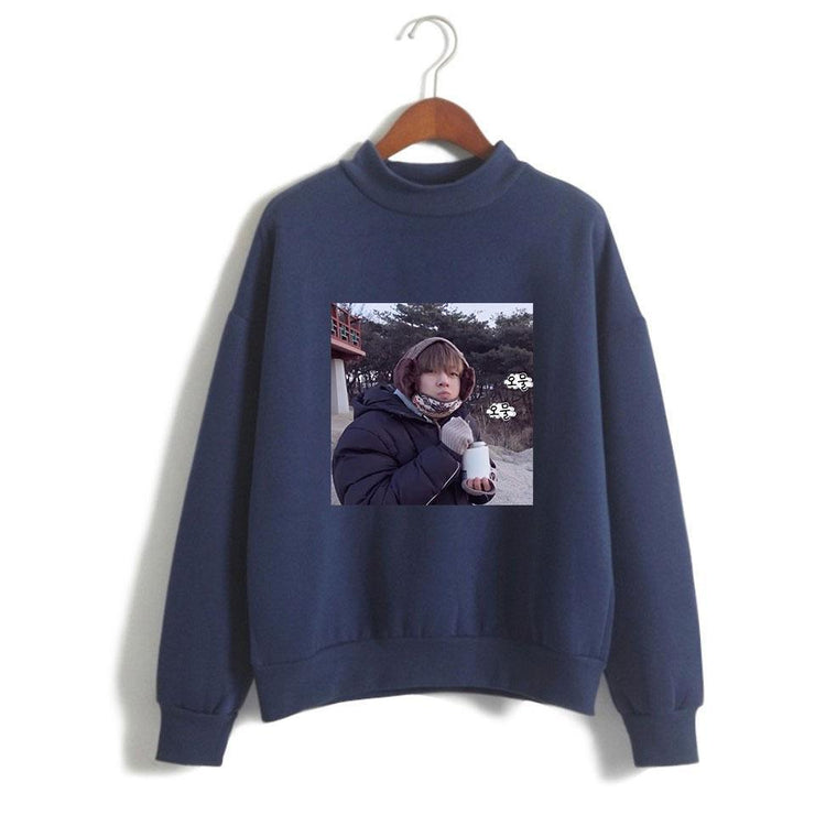 "BTS V Taehyung ""Frozen Tae"" Pullover Navy Blue / XXS Gotamochi BTS MERCH BT21 MERCH KAWAII STORE"