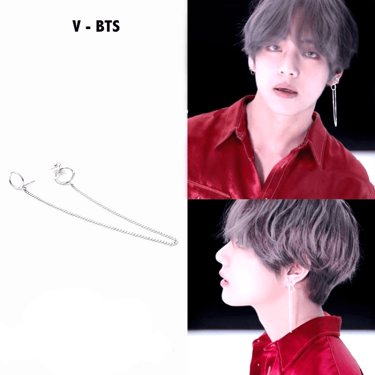 BTS V Taehyung Loop Earings Gotamochi BTS MERCH BT21 MERCH KAWAII STORE