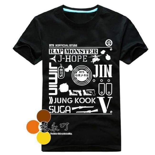 BTS Wake Up Live Tokyo Concert T-shirt black / S Gotamochi BTS MERCH BT21 MERCH KAWAII STORE