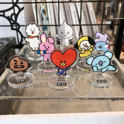 BTS x BT21 Army Figure Stand Gotamochi BTS MERCH BT21 MERCH KAWAII STORE