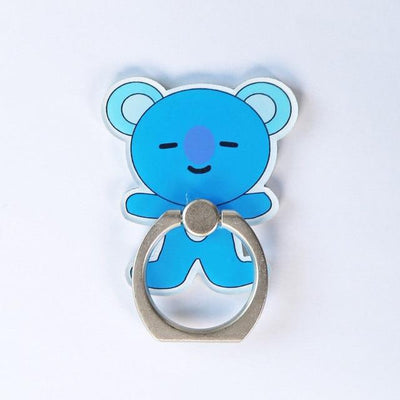 BTS x BT21 Cartoon Ring Phone Holder KOYA Gotamochi BTS MERCH BT21 MERCH KAWAII STORE