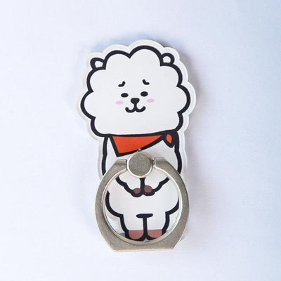 BTS x BT21 Cartoon Ring Phone Holder RJ Gotamochi BTS MERCH BT21 MERCH KAWAII STORE