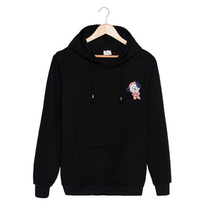 BTS x BT21 Christmas Hoodie Chimmy-Black / S Gotamochi BTS MERCH BT21 MERCH KAWAII STORE