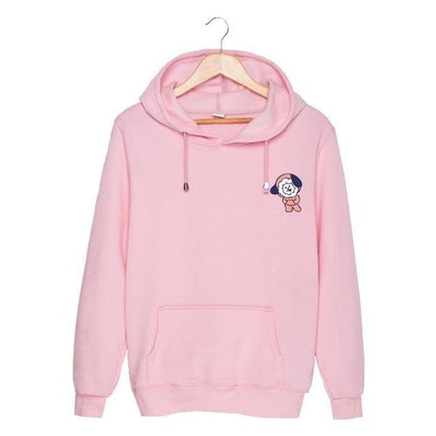 BTS x BT21 Christmas Hoodie Chimmy-Pink / S Gotamochi BTS MERCH BT21 MERCH KAWAII STORE