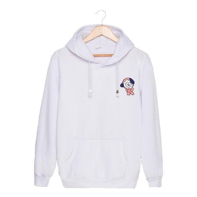 BTS x BT21 Christmas Hoodie Chimmy-White / S Gotamochi BTS MERCH BT21 MERCH KAWAII STORE