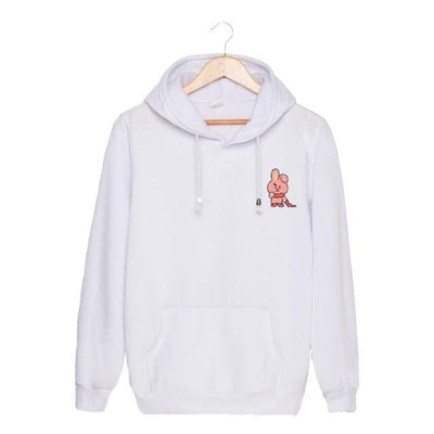 BTS x BT21 Christmas Hoodie Cooky-White / S Gotamochi BTS MERCH BT21 MERCH KAWAII STORE