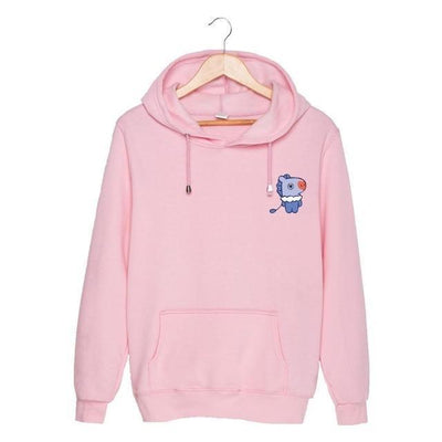 BTS x BT21 Christmas Hoodie Mang-Pink / S Gotamochi BTS MERCH BT21 MERCH KAWAII STORE