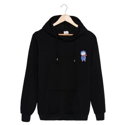 BTS x BT21 Christmas Hoodie Rj-Black / S Gotamochi BTS MERCH BT21 MERCH KAWAII STORE
