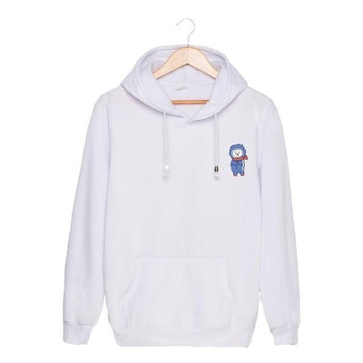 BTS x BT21 Christmas Hoodie Rj-White / S Gotamochi BTS MERCH BT21 MERCH KAWAII STORE
