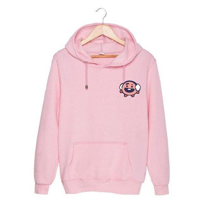 BTS x BT21 Christmas Hoodie Shooky-Pink / S Gotamochi BTS MERCH BT21 MERCH KAWAII STORE