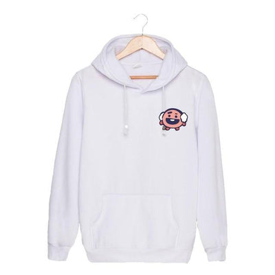 BTS x BT21 Christmas Hoodie Shooky-White / S Gotamochi BTS MERCH BT21 MERCH KAWAII STORE