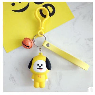 BTS x BT21 Lanyard Bell Keychain CHIMMY Gotamochi BTS MERCH BT21 MERCH KAWAII STORE