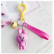 BTS x BT21 Lanyard Bell Keychain COOKY Gotamochi BTS MERCH BT21 MERCH KAWAII STORE