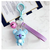 BTS x BT21 Lanyard Bell Keychain KOYA Gotamochi BTS MERCH BT21 MERCH KAWAII STORE