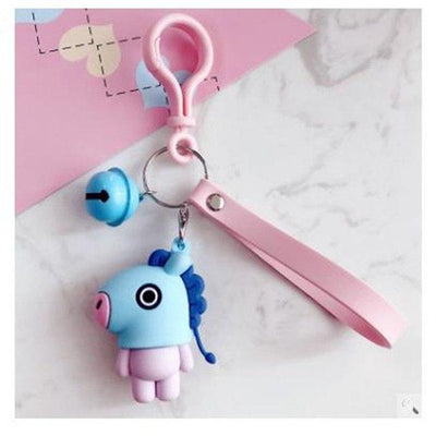BTS x BT21 Lanyard Bell Keychain MANG Gotamochi BTS MERCH BT21 MERCH KAWAII STORE