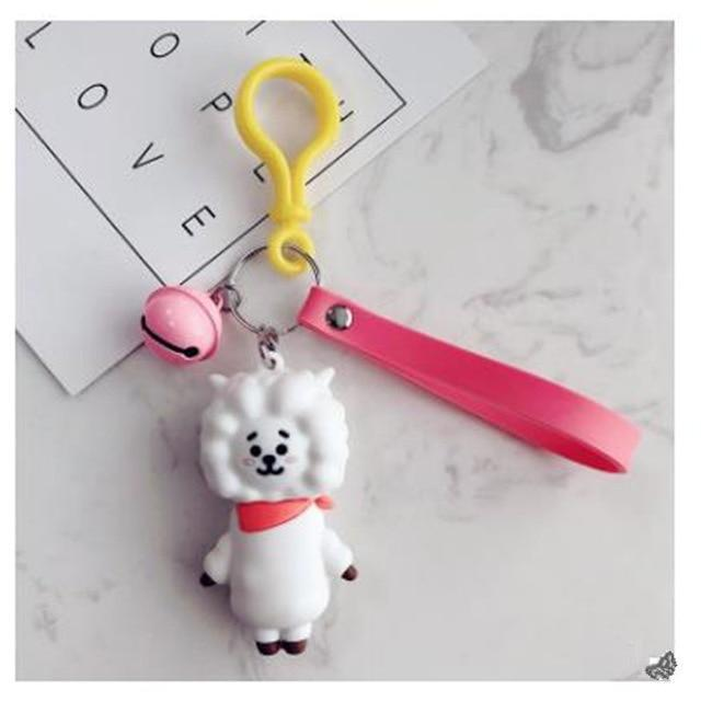 BTS x BT21 Lanyard Bell Keychain RJ Gotamochi BTS MERCH BT21 MERCH KAWAII STORE