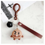 BTS x BT21 Lanyard Bell Keychain SHOOKY Gotamochi BTS MERCH BT21 MERCH KAWAII STORE